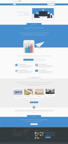 Concept 1 WordPress theme. #WordPress #theme #inspiration #web #flat #product #landing #animated