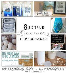 Need to up your game in the laundry room?  Try these 8 simple laundry tips and hacks!  They're sure to simplify your routine!