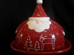 Nauvoo House Santa Claus Butter Tray with Lid #buttertray #santaclaus #nauvoohouse