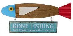 Gone Fishing Wall Art Sign $69.95