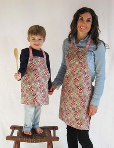 Get ready for holiday baking by sewing up something sweet: Learn how to make a simple, reversible children's chef apron, right here!