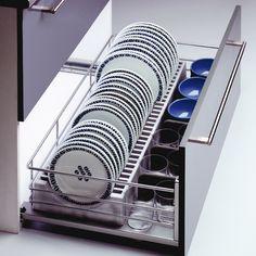rangement coulissant 1 panier assiettes pour meuble de 60 cm delinia cuisine pinterest. Black Bedroom Furniture Sets. Home Design Ideas