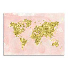 World Map Graphic Art