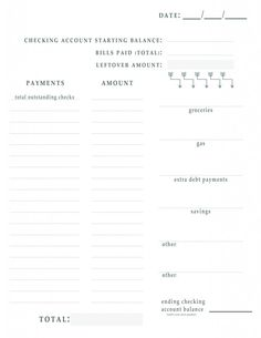 Bill Pay Worksheet to keep your budget on track all month long - from One Beautiful Home Blog