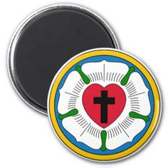 The Luther Rose Lutheranism Martin Luther 2 Inch Round Magnet