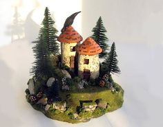 The Woodland Alpine Fairy Houses   French Style by bewilderandpine, $59.00