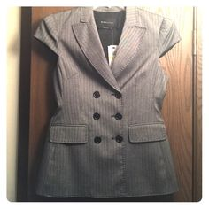 NEW WITH TAGS!  BCBG JACKET NEW WITH TAGS!  BCBG Jacket.  Heathered Grey. Matching wide legged dress pants on a separate listing if you are interested. BCBGMaxAzria Jackets & Coats