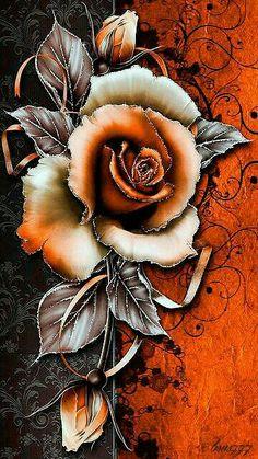 New flowers orange wallpaper vintage wallpapers 22 ideas Flower Phone Wallpaper, Butterfly Wallpaper, Flower Wallpaper, Iphone Wallpaper, Pretty Wallpapers, Live Wallpapers, Vintage Wallpapers, Orange Tapete, Animiertes Gif