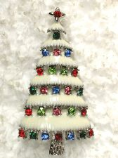 Back in the day, moms and grandmas always had a pretty Christmas tree brooch (pin) to wear to church, or on a coat lapel, while Christmas shopping, or for dinner on Christmas day. ~  (vintage, antique, days gone by)
