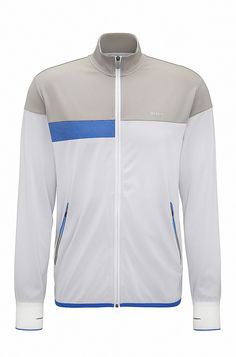 580a23991 Slim-fit sweater in technical fabric. Hugo BossFabricSweatersJacketsMenAdidas  ...