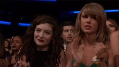 taylor swift and lorde after watching selena gomez's performance at the AMAs (aka feels)
