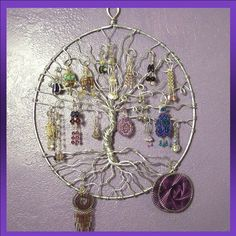 Earring Tree Wire 'Tree of Life' (Inspiration Only. No Pattern or Instructions.)