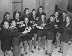 James Doolittle and fellow raiders at a reunion in North Africa 18 April 1943.