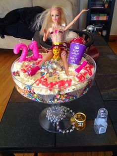 21st drunk Barbie birthday cake ❤️