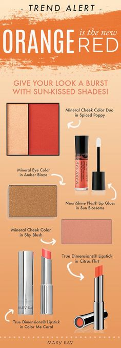 Think you can pull of the daring Orange look? Give it go!