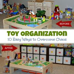 10 Easy Ways to Over Come Chaos with Toy Organization! #home #organize