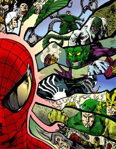 Collaboration -Spiderman Cover Like by The-GreenGoblin Comics Spiderman, All Spiderman, Spiderman Pictures, Amazing Spiderman, Comic Superheroes, Marvel Films, Marvel Vs, Marvel Characters, Marvel Heroes