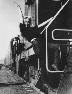 """1954 / Marilyn while filming """"River of No Return""""."""