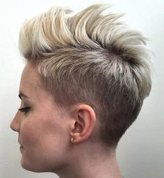 Shaved Mohawk Haircuts for Women | Women Hairstyle Trend in 2016: Undercut hair