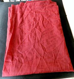 """Maroon Polyester Fabric Chiffon Sheer Polyester Swatch Remnant 92"""" x 52"""""""
