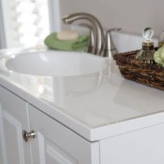 41650a1573 Vanity in White with Alpine Vanity Top in - The Home Depot.
