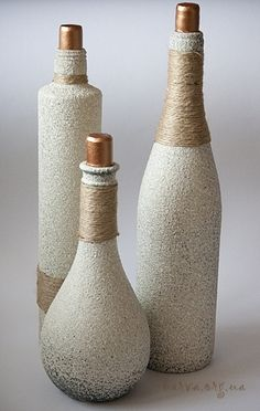декор бутылок манкой - Поиск в Google