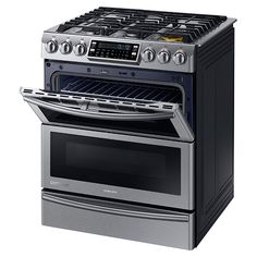 NY58J9850WS Dual Fuel Range with Flex Duo and Dual Door