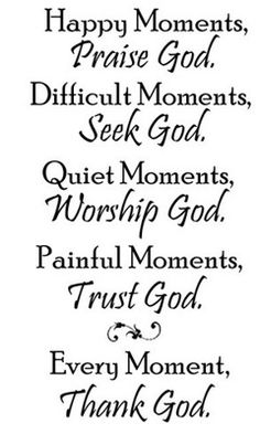 Seek God always