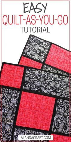 Reversible Quilt As You Go Quilt With Sashing. Easy quilt pattern. Suitable for confident beginner. Step-by step tutorial. Written and video instructions. Beginner Quilt Patterns, Quilting For Beginners, Quilt Patterns Free, Quilting Tips, Quilting Tutorials, Quilting Projects, Quilting Designs, Sewing Tutorials, Beginner Quilting