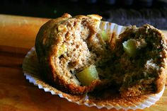 THE BEST whole wheat apple muffins - sub 1c oatmeal (soaked in the 1c of  milk) for 1c flour, sub 1/2c applesauce + 1/4c oil for egg, sub 1/4c coconut sugar for granulated