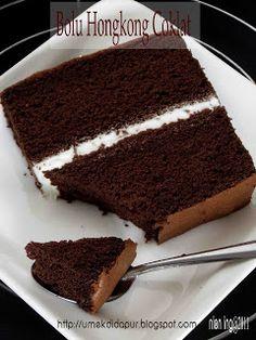 Umek di Dapur: Step by Step Membuat Bolu Hongkong Coklat Brownie Recipes, Chocolate Recipes, Cake Recipes, Cake Chocolate, Baking Recipes, Snack Recipes, Dessert Recipes, Marmer Cake, Bolu Cake
