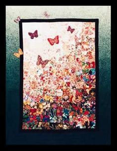 """Image detail for -Butterflies Are Free"""" Watercolor Quilt Kit"""