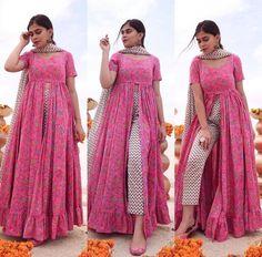 Casual Indian Fashion, Asian Fashion, Boho Fashion, Fashion Dresses, Punjabi Suits Designer Boutique, Indian Designer Outfits, Designer Dresses, Kurta Designs, Saree Blouse Designs