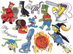 Simpsons Halloween Flash Temp Tattoo  Bundle by Daisyhillflash on Etsy