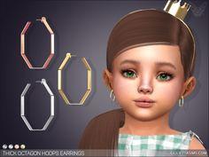 Sims 4 Body Mods, Sims Mods, Sims 4 Mods Clothes, Sims 4 Clothing, Toddler Designer Shoes, Chokers For Kids, Kids Earrings, Hoop Earrings, Sims 4 Piercings