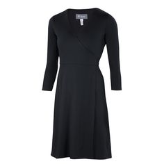 All-season Merino jersey a-line wrap dress