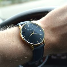Classic Black on the wrist - www.bonvier.com #bonvier #watches #orologi