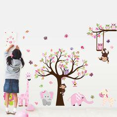 Állatok színes kavalkádja egész falas falmatrica  #elefánt #zebra #gyerekszobafalmatrica #falmatrica #gyerekszobadekoráció #gyerekszoba #matrica #faldekoráció #dekoráció