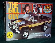 Remember the Fall Guy from the I loved that GMC truck! With the MPC model, you could build your own Lee Majors Fall Guy Truck! Fall Guy Truck, Chevy Models, Guy Models, Revell Model Kits, The Fall Guy, Monogram Models, Model Cars Kits, Kit Cars, Plastic Model Cars