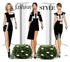 A fashion look from December 2015 featuring shift dress and high rise shorts. Browse and shop related looks. Fashion Figure Drawing, Fashion Drawing Dresses, Fashion Illustration Collage, Fashion Illustration Dresses, Fashion Design Sketchbook, Fashion Sketches, Purple Fashion, Look Fashion, Fashion Figures