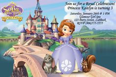 Sofia the First Birthday Invitation by OurCreativeMess on Etsy, $10.00