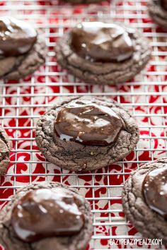ganache topped cookies cake mix