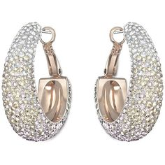 Trendy and sophisticated, this pair of rose gold-plated earrings adds a little sparkle to your everyday outfits. It is crafted in Swarovski's unique Pointiage®…