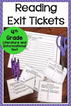 Top Ten Everyday Living Insurance Plan Misconceptions These Exit Tickets Are Great For Asking Questions That Go With The Grade Common Core Standards For Literature And Informational Text. Ideal For Standards Based Grading Or Formative Assessment. Middle School Reading, 5th Grade Reading, Guided Reading, Teaching Reading, Close Reading, Teaching Ideas, Reading Lessons, Reading Strategies, Reading Comprehension