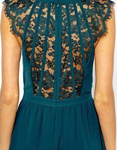 Warehouse Lace Back Soft Dress