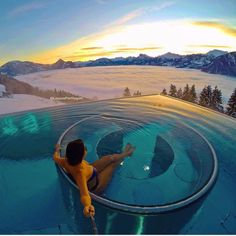 Sunrise above the clouds 💙💙. One of the best hotels we have ever stayed! Villa Honegg Switzerland, Lucerne Switzerland, Travel Pictures, Cool Pictures, Funny Pictures, Hotel Villa Honegg, Dubai, Luxury Boat, Voyager Loin