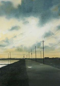 Abe Toshiyuki, Autumn, Abe Toshiyuki Watercolor Web Gallery