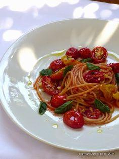 grain de sel - salzkorn: Umworben - Spaghetti al pomodoro