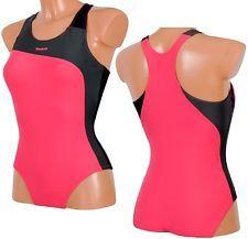 839b0d6c8c3fc6 Reebok Damen Badeanzug Schwimmanzug Swimsuit Schwimmer Bikini  pink/grau/schwarz