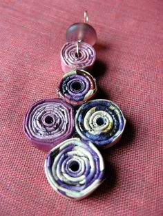 Rolled Paper Bead Pendants (TONS of pics) - JEWELRY AND TRINKETS